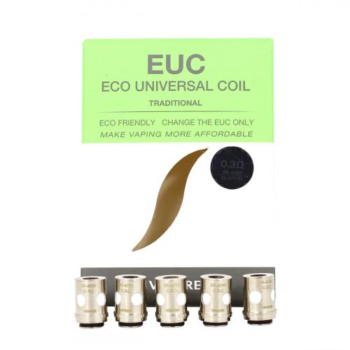 Résistances EUC Traditional Vaporesso pour Veco Tank, Veco One plus et Veco Solo
