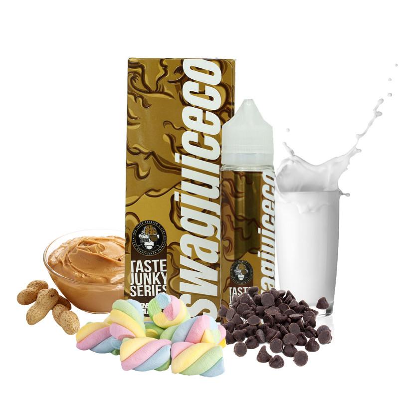 E-liquide gourmand  chocolat, lait,  guimauve, cacahuete.