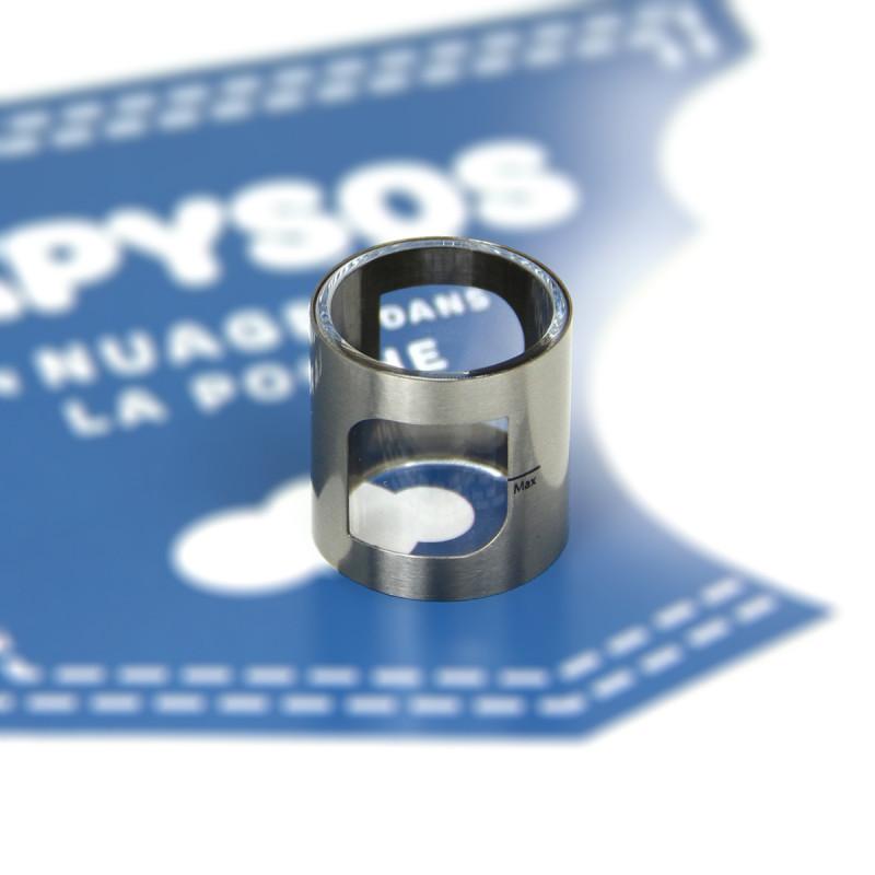 Verre pyrex de remplacement pour votre pockex silver, simple à changer, contenance de 2 ml