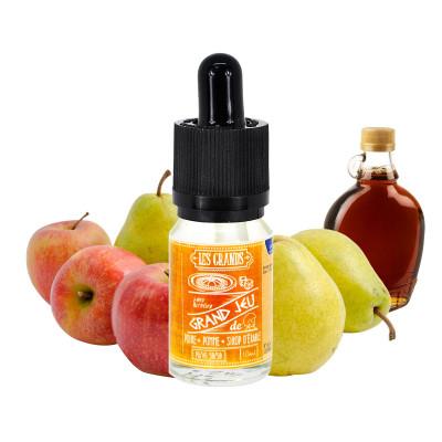 E-liquide pomme poire sirop erable