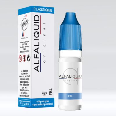 E-liquide FR4 alfaliquid, fabriqué en France, 76/24 PG/VG